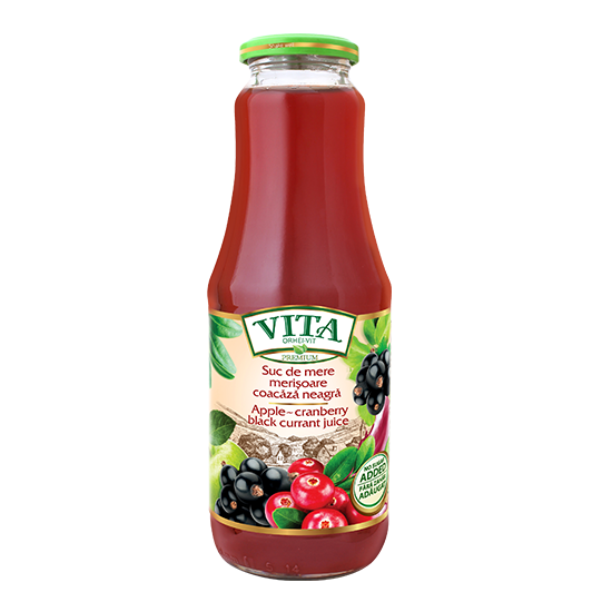 VITA Apple Cranberry Blackcurrant Juice 1000ml